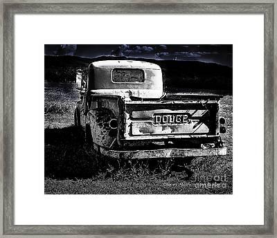 Taos Dodge B-w Framed Print