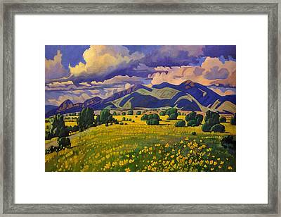 Taos Fields Of Yellow Framed Print