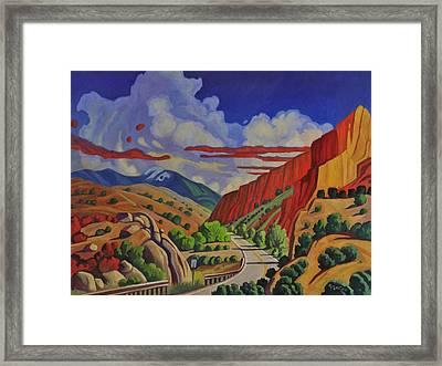 Taos Gorge Journey Framed Print