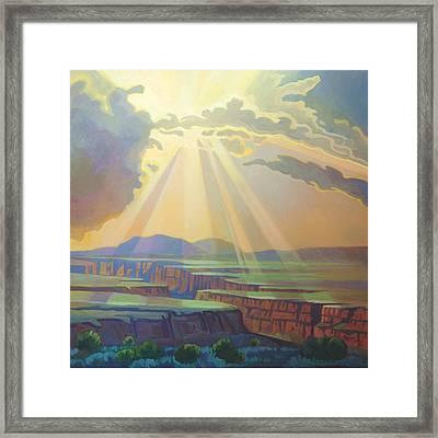 Taos Gorge Light Framed Print
