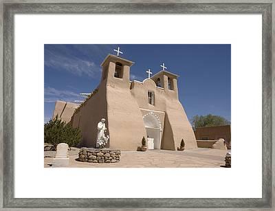 Taos Landmark Framed Print by Jerry McElroy