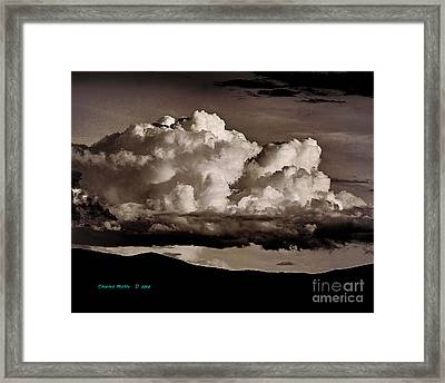 Taos Monsoons In Red Tones Framed Print by Charles Muhle