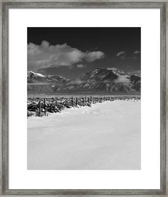 Taos Mountain Morning Framed Print