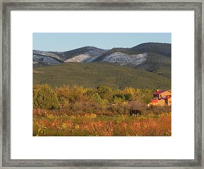 Taos New Mexico Scene Framed Print
