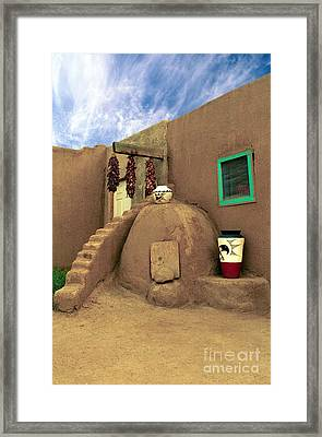 Taos Oven Framed Print by Jerry McElroy
