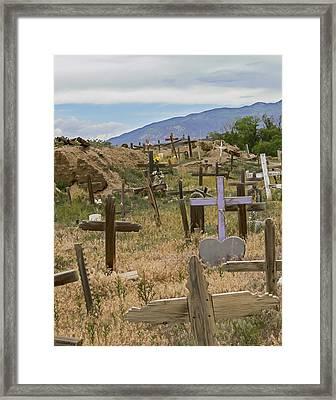 Taos Pueblo Cemetery Framed Print