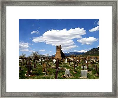 Taos Pueblo Cemetery Framed Print by Kurt Van Wagner