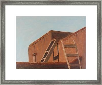 Taos Pueblo II Framed Print by John Terry