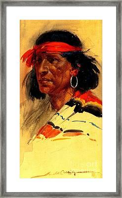 Taos Pueblo Indian Circa 1918 Framed Print