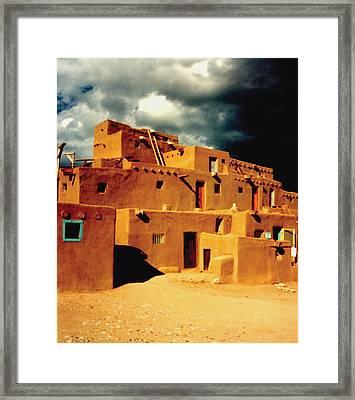 Taos Pueblo Framed Print by Kathleen Stephens