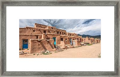 Taos Pueblo New Mexico Framed Print