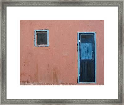 Taos Pueblo Vi Framed Print by John Terry