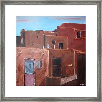 Taos Pueblo Viii Framed Print by John Terry