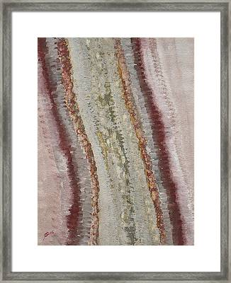 Taos Road In Melting Snow Original Painting Framed Print by Sol Luckman