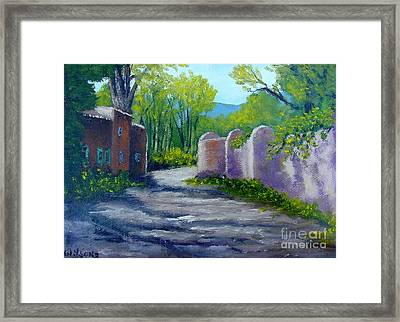 Framed Print featuring the painting Taos Shadows by Fred Wilson