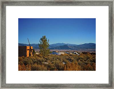 Taos Valley Framed Print by Charles Muhle