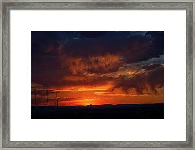 Taos Virga Sunset Framed Print