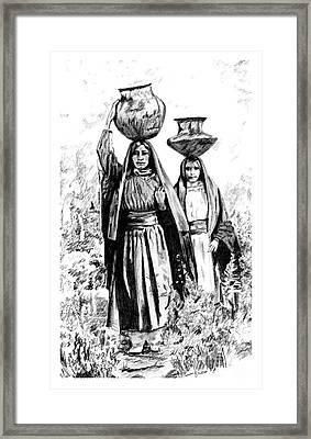 Taos Watergirls Framed Print