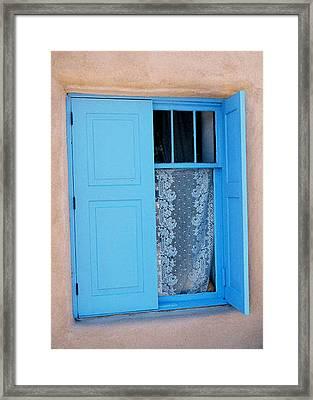 Taos Window Framed Print by Diana Davenport