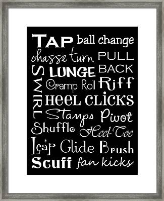 Tap Dance Subway Art Poster Framed Print