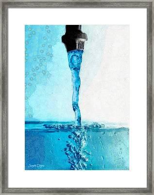 Tap Water B - Da Framed Print by Leonardo Digenio
