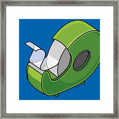Framed Print featuring the digital art Tape Dispenser by Ron Magnes