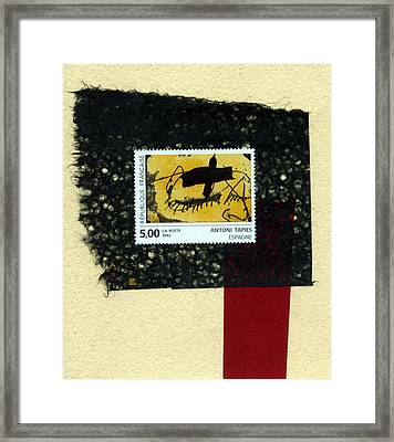 Tapies Stamp Collage Framed Print