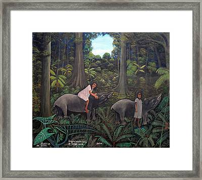 Tapir In The Jungle Framed Print