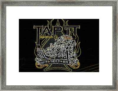 Tapit Brewing Art Framed Print by Darrell Foster