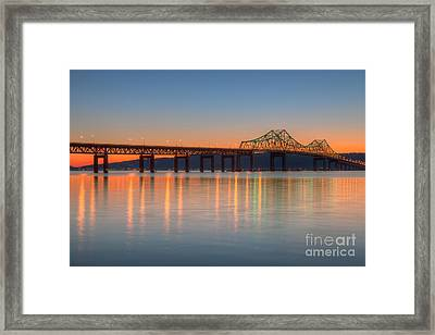 Tappan Zee Bridge After Sunset II Framed Print by Clarence Holmes