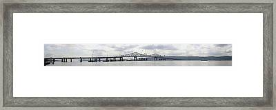 Tappan Zee Bridge From Tarrytown Framed Print by Suhas Tavkar