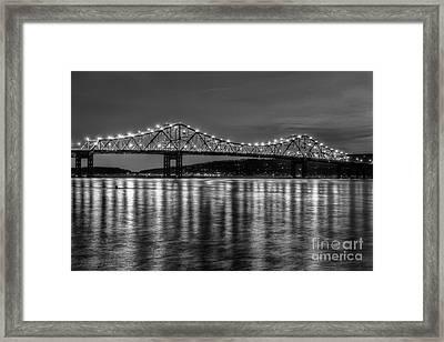 Tappan Zee Bridge Twilight IIi Framed Print by Clarence Holmes