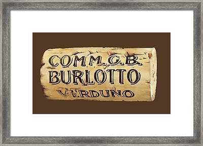 tappo Burlotto Framed Print by Danka Weitzen