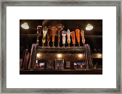 Taps Framed Print by Andrew Kubica