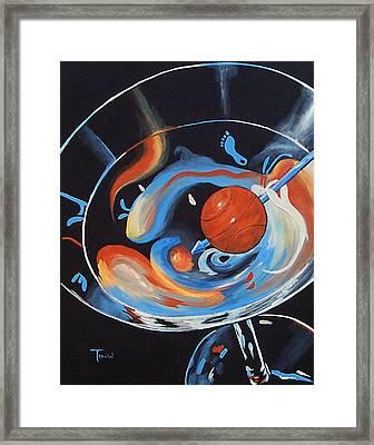 Tar Heel Martini  Framed Print