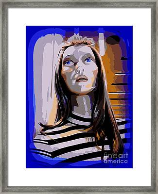 Tara In Stripes Framed Print