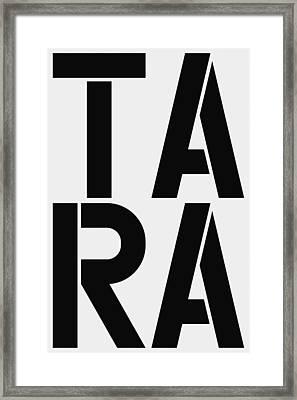 Tara Framed Print by Three Dots