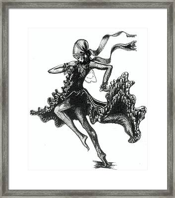 Tarantella Framed Print by Yvonne Ayoub