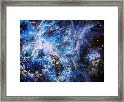 Tarantula Nebula In Blue Framed Print by Jennifer Rondinelli Reilly - Fine Art Photography