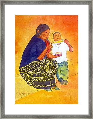 Tarascan Senora  And Nino Framed Print by Buster Dight