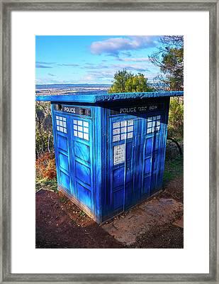 Tardis - Canberra - Australia Framed Print by Steven Ralser