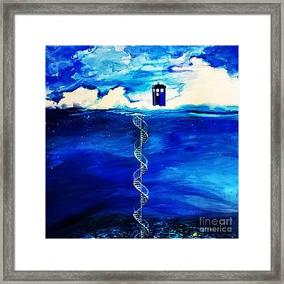 Tardis Cloud Framed Print by Devika Indriani