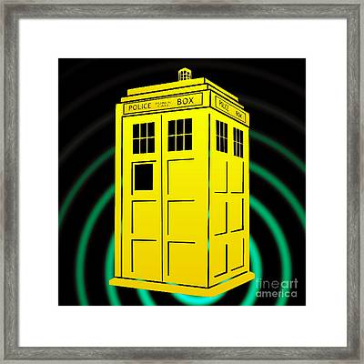 Tardis Element Framed Print by Justin Moore
