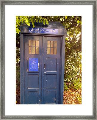 Tardis Framed Print by Julie Butterworth