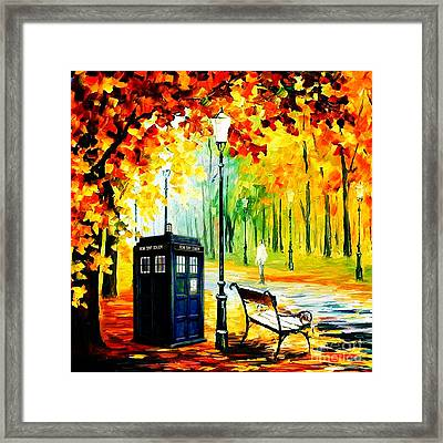 Tardis Starry Night Framed Print by Devika Indriani
