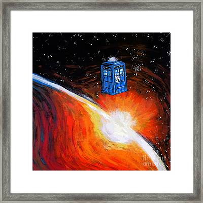 Tardis Time Framed Print by Devika Indriani