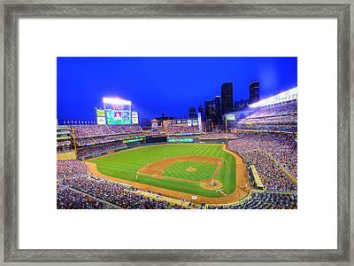 Target Field At Night Framed Print