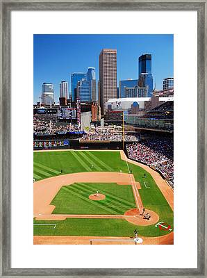 Target Field, Home Of The Twins Framed Print by James Kirkikis