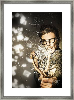 Target Market Nerd With Best Practice Breakthrough Framed Print