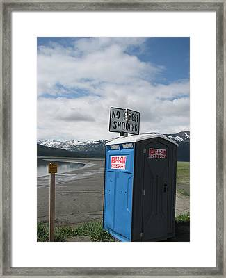 Target Shooting Anyone  Framed Print